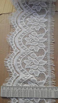 Кружево ажурное реснички. Кружево франция ажурное с ресничками ажурное 30 метров, фото 2