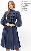 Женское платье с жабо на груди (3305 lp)