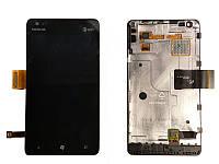 Дисплей для Nokia Lumia 900 Black Original (с сенсорным экраном+ рамка)