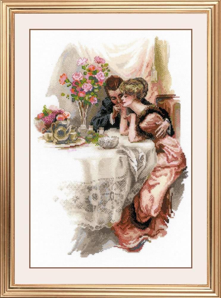 Набір для вишивки хрестом Ріоліс 1774 «Перший вечір у власному домі» за мотивами картини Х. Фішера