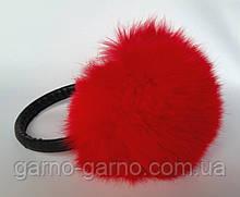 Наушники меховые Зимние кролик Красный цвет