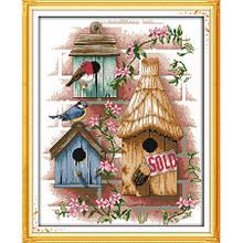 Вышивка крестом Птичий дом