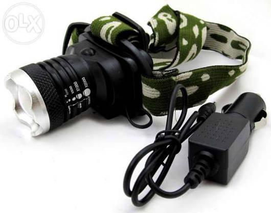 Фонарь налобный Bailong Мощный универсальный аккумуляторный налобный фонарь BL-6809 10000W
