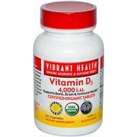 Витамин Д3 (Vitamin D3), Vibrant Health, 4 000 МЕ, 100 таблеток
