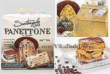 Рождественский Панеттон с Тирамису Panettone ricoperto al cacao di tiramisú Santangelo Италия
