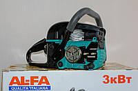 "Бензопила AL-FA YD-KW02-45  (2 шины 2 цепи 18"" + 16"", 52 см3, легкий старт)"