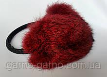 Наушники меховые Зимние кролик  Вишневый Шоколадный цвет