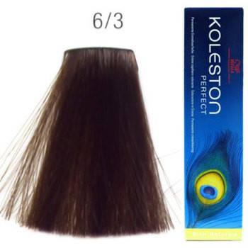 Краска для волос 6/3 Wella Koleston Темный блондин золотистый 60 мл, фото 2