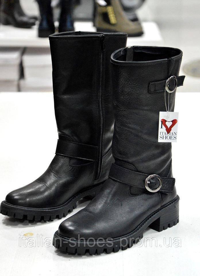 Зимние черные сапоги нубук Slash 55
