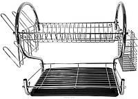 Сушилка для посуды 2 яруса (Хром) S-ка маленькая