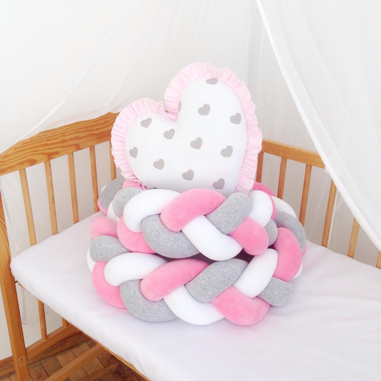 Коса бортик в детскую кроватку, Защита в кроватку