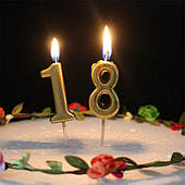 Свечи для торта цифры