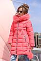 Пальто детское Кина 2 c  натуральным мехом -ТМ Nui Very Размер 28, фото 2