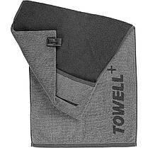 Многофункциональное спортивное полотенце TOWELL+ Серое-черное, КОД: 144454, фото 3