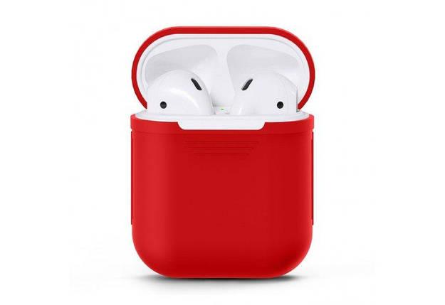 Чехол для наушников Grand для Apple AirPods silicone case Dark Red AL1244, КОД: 146251, фото 2