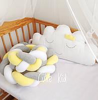 Бортики косички в детскую кроватку, защита бортик в кроватку