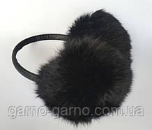 Наушники меховые Зимние кролик Черный цвет