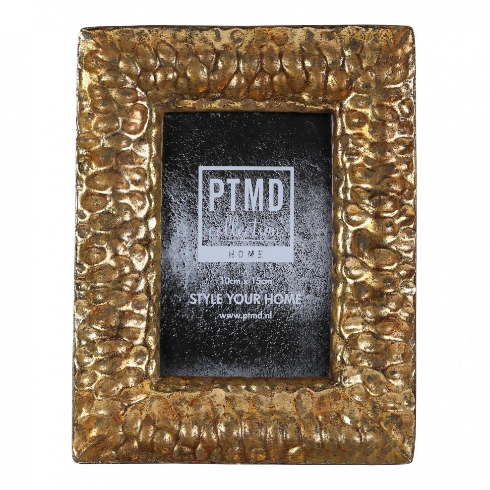 Фоторамка PTMD CURVY gold photoframe l gold 669740-PT