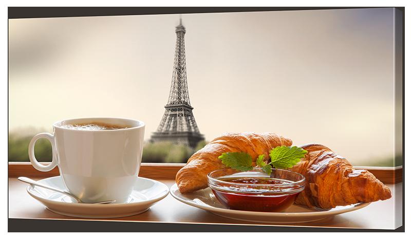 Картина Interno Холст Утро в Париже 100x57см (R2028L)