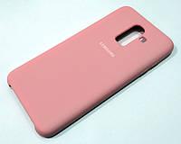 Чехол Silicone Case Cover для Samsung Galaxy J8 j810 (2018) розовый