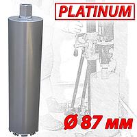 """Алмазная коронка SUPERHARD """"PLATIMUM"""" Ø87 мм 1 1/4""""UNC"""