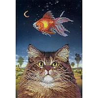 Схема на ткани для вышивания бисером ТМ Картины бисером Кошачьи мечты S-169 49aac09119efd