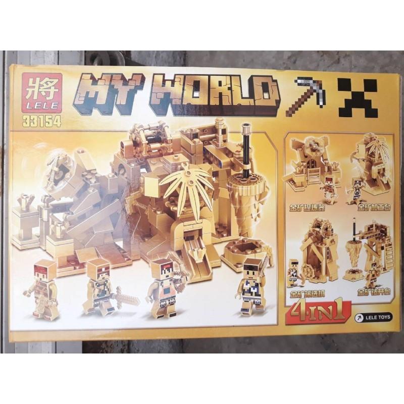 Конструктор Minecraft Lele 33154 Золотая серия 4 вида