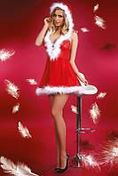 """Новогодний сексуальный комплект Livia Corsetti. Эротический костюм """"Снегурочка"""". Единый размер."""