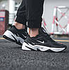 Кроссовки женские Nike Air Monarch M2K Tekno Black White Черные, фото 2