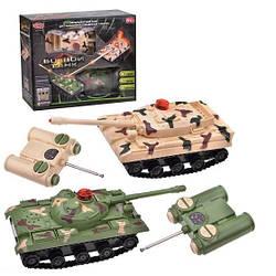 Танковий бій батар. на р/у 9672 , світло, звук, 2 види, в коробці 22*27*8см
