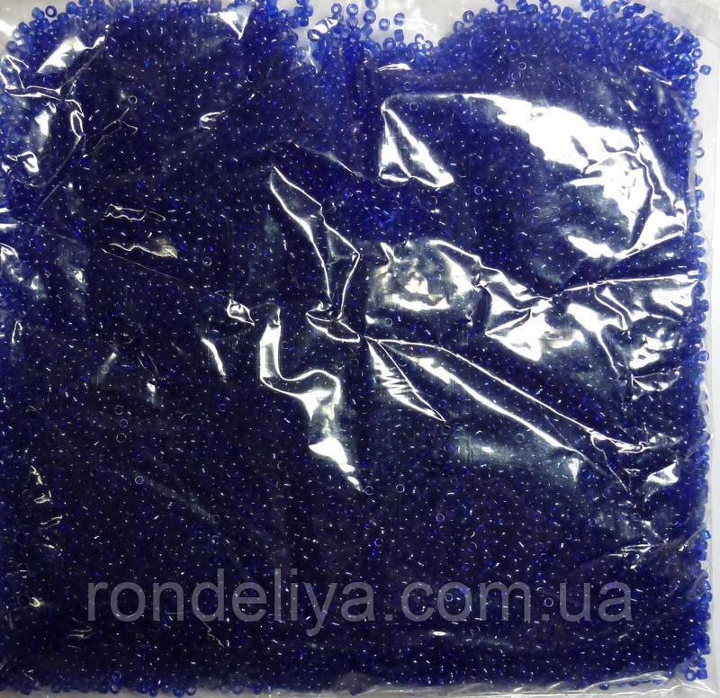 Бісер синьо-фіолетовий прозорий