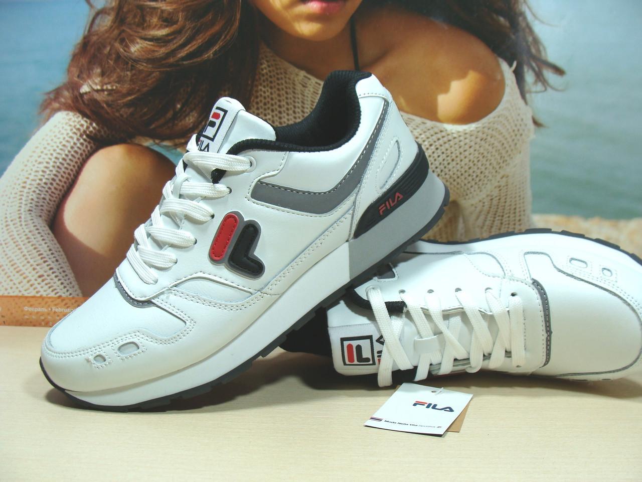 Мужские кроссовки Fila RJ STAR 85 (реплика) белые 43 р., фото 1