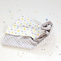 Плюшевый плед Minky с хлопком для новорожденных, фото 1
