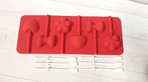 Силиконовая форма для конфет на палочке, леденцов ассорти
