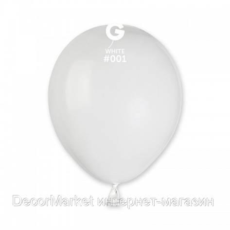 Шарик воздушный 5 дюймов (13 см) пастель БЕЛЫЙ, фото 2