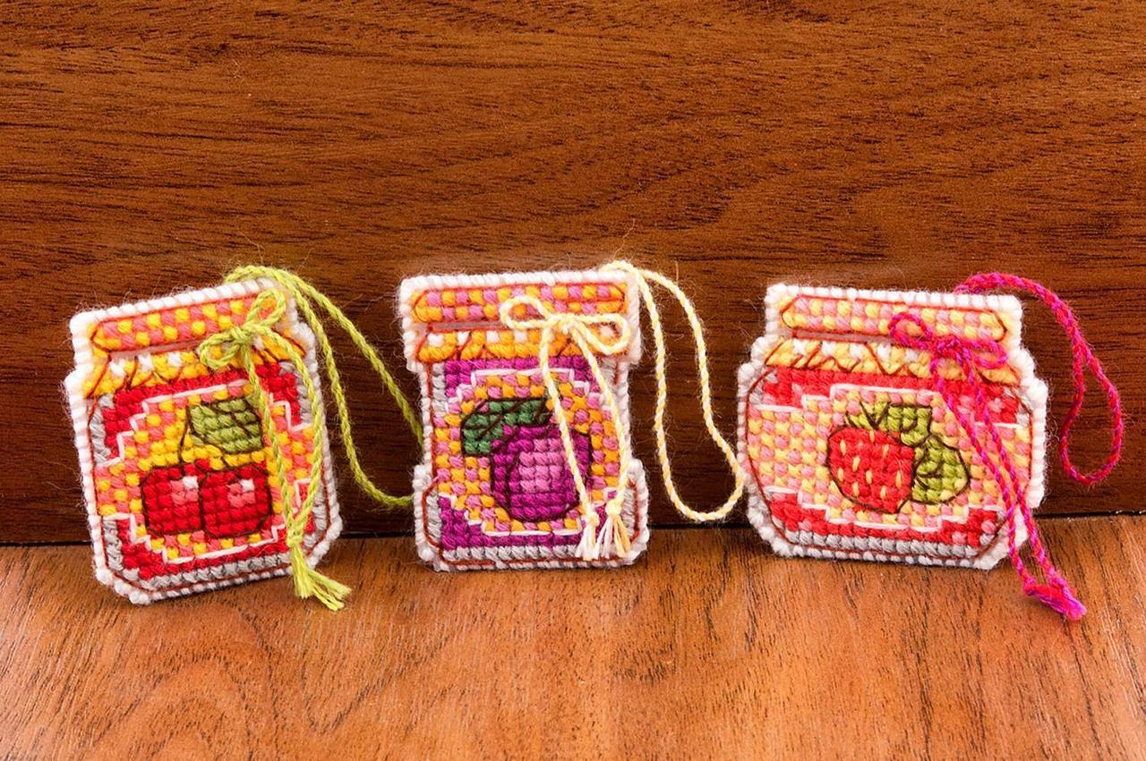 Набор для вышивки крестом Риолис 1749АС «Баночки с вареньем»