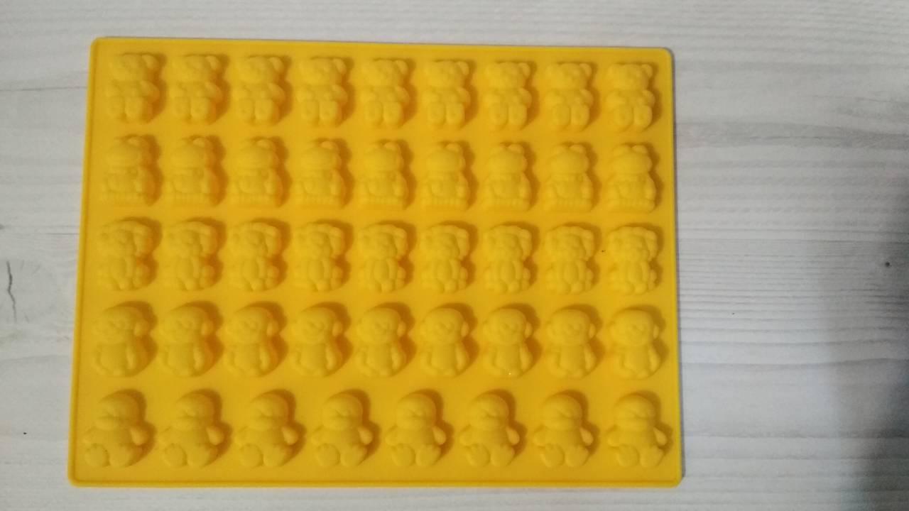 Силиконовая форма для выпечки кондитерских изделий, приготовления шоколадных и желейных конфет, зверята