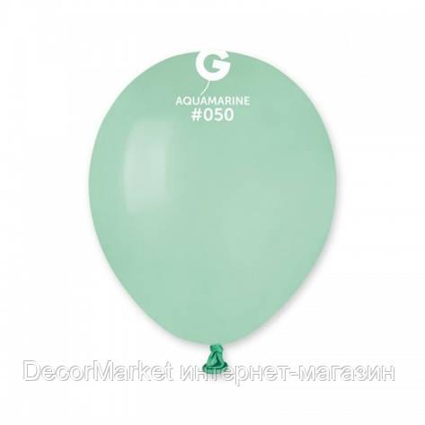 Шарик воздушный 5 дюймов (13 см) пастель АКВАМАРИН (БИРЮЗА), фото 2