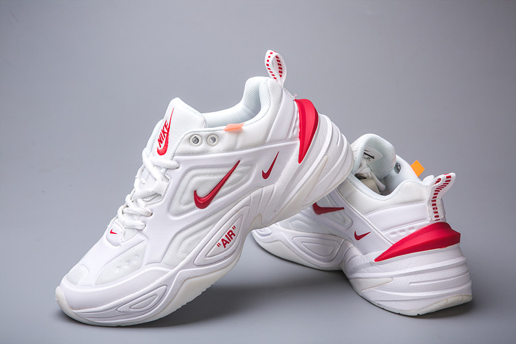 Кроссовки женские Nike Air Monarch M2K Tekno White Red Белые