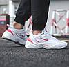 Кроссовки женские Nike Air Monarch M2K Tekno White Red Белые, фото 2