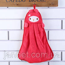 Детское розовое полотенце