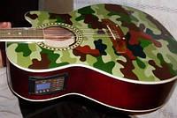 Вставка звукоснимателя в акустической гитаре