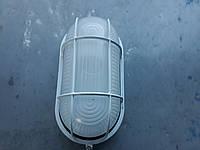 Светильник влагозащищенный овал 60W белый с решеткой