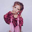 Канекалон ярко розовый нежно розовый омбре для причёсок, для кос брейд, фото 4