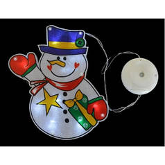 """Наклейка-светильник """"Снеговик"""", 15,6*21 см YES! Fun 801079"""