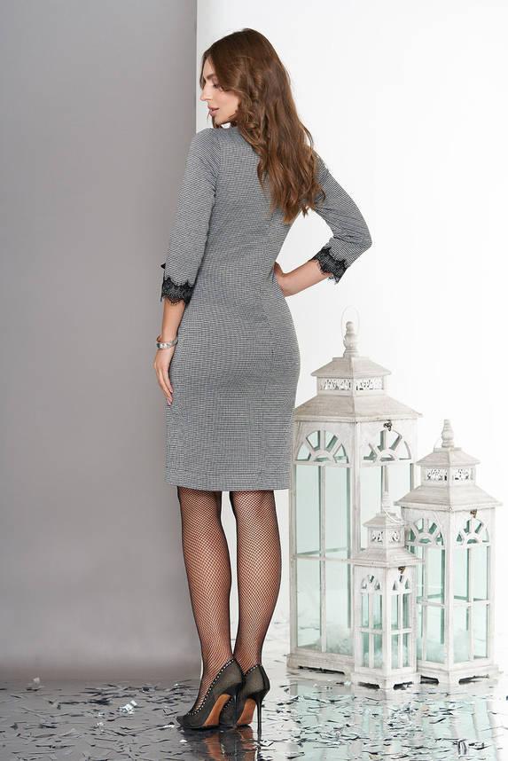 Платье на запах трикотажное с кружевом, фото 2