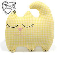 Мягкая игрушка Сплюшка для малышей Кот маленький, ручная работа