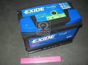 Аккумулятор   74Ah-12v Exide EXCELL(278х175х190),L,EN680 EB741