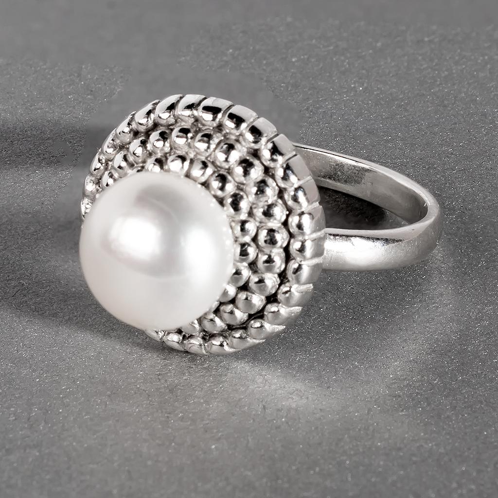 Перли білий, срібло 925, кільце, 964КЖ