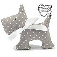 Мягкая игрушка Сплюшка для малышей Собака маленькая, ручная работа